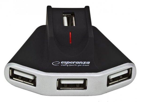 Hub USB Esperanza EA125 4xUSB 2.0 czarny