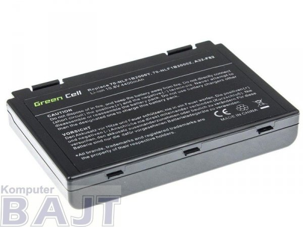 Bateria Green Cell do Asus A32-F82  K40 K50 6 cell 11,1V