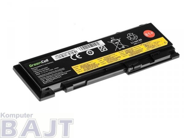 Bateria Green Cell do Lenovo ThinkPad T420s T420si 6 cell 11,1V