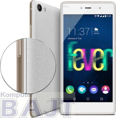 """Smartfon WIKO Fever 4G 5,2"""" Dual SIM White/Gold Biało-złoty"""