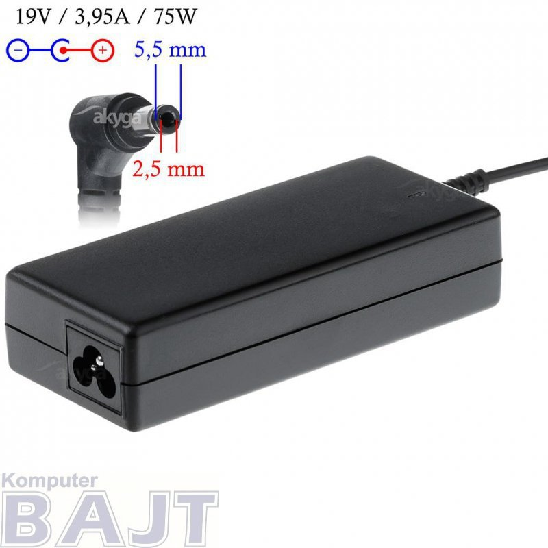 Zasilacz sieciowy Akyga AK-ND-02 do notebooka 19V/3,95A 75W 5.5x2.5 mm
