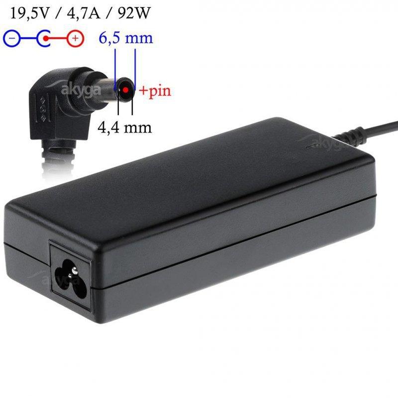 Zasilacz sieciowy Akyga AK-ND-20 do notebooka 19,5V/4,7A 92W 6.5x4.4mm + pin