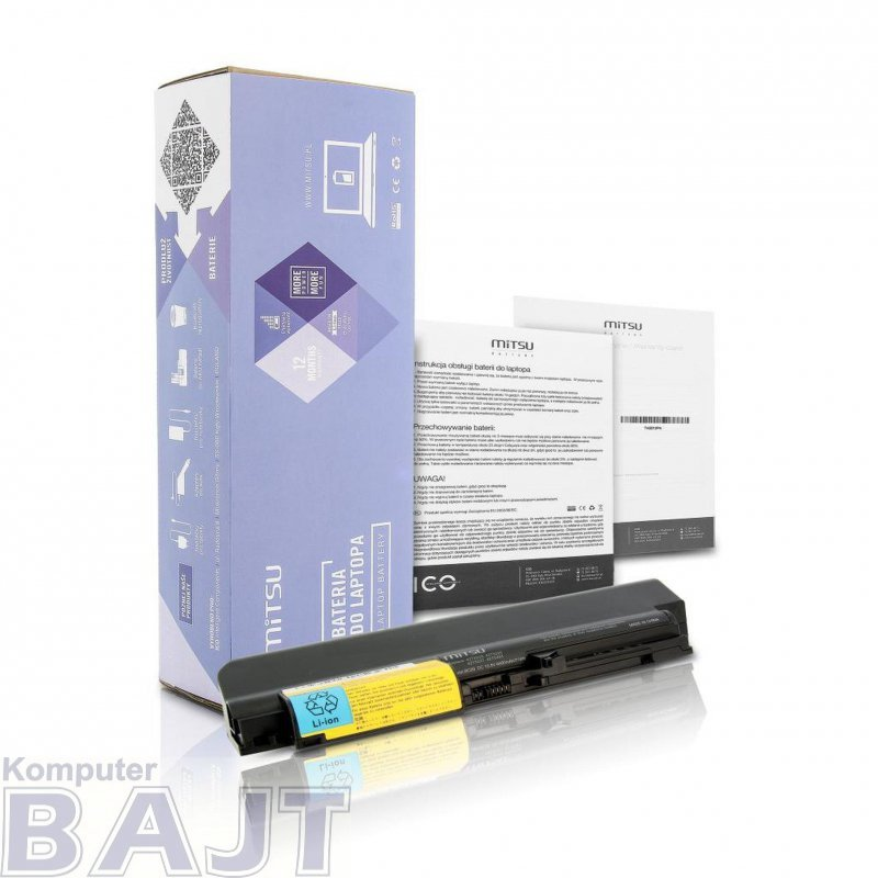 "Bateria Mitsu do notebooka IBM 14"" T61, R61 (10.8V-11.1V) (6600 mAh)"