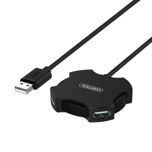 Hub USB Unitek Y-2178 4x USB 2.0 micro - czarny