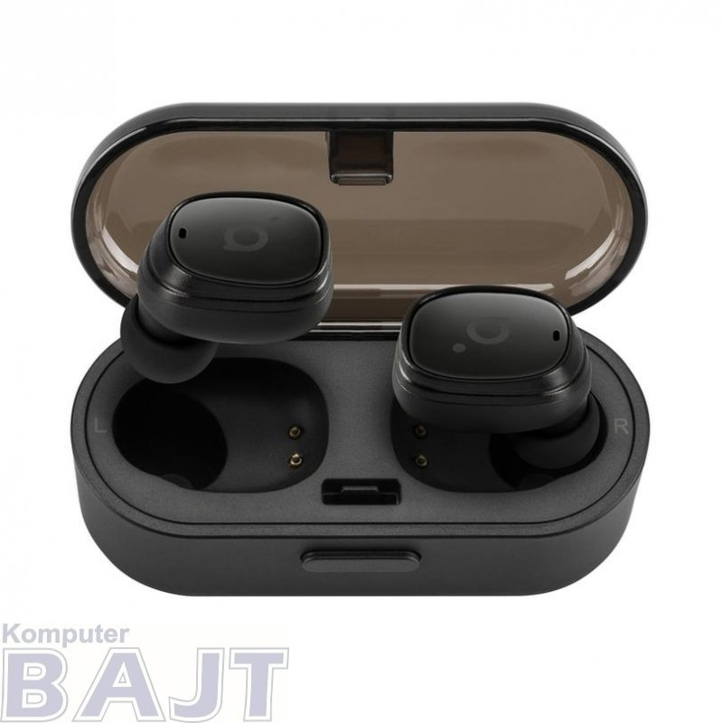 Słuchawki z mikrofonem Acme BH410 bezprzewodowe Bluetooth douszne bezkablowe TWS czarne