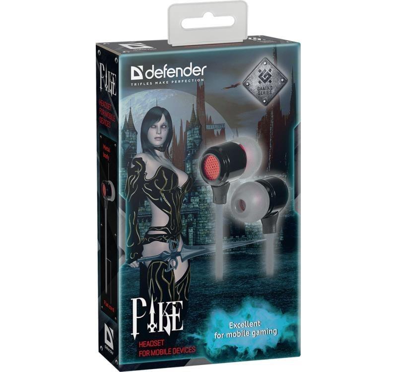 Słuchawki z mikrofonem Defender PIKE douszne gaming czarno-czerwone