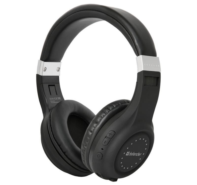 Słuchawki z mikrofonem Defender FREEMOTION B551 bezprzewodowe Bluetooth czarne
