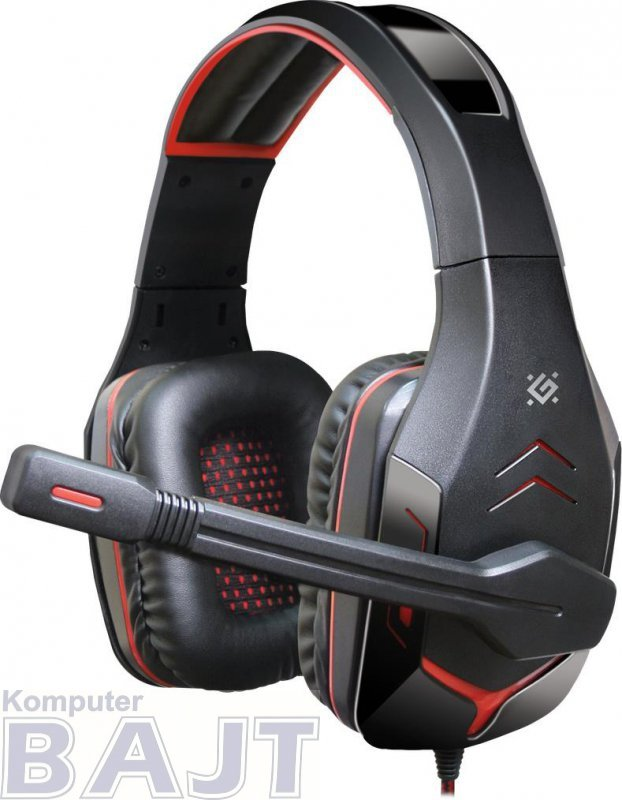 Słuchawki z mikrofonem Defender EXCIDIUM Gaming + GRA czarno-czerwone