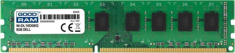 Pamięć DDR3 GOODRAM 8GB DELL 1600MHz PC3L-12800U DDR3 DIMM