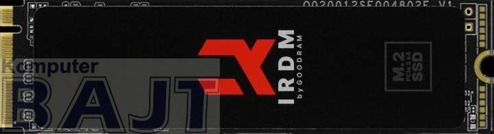 Dysk SSD GOODRAM IRDM 1TB PCIe M.2 2280 NVMe gen 3 x4 (3200/3000)