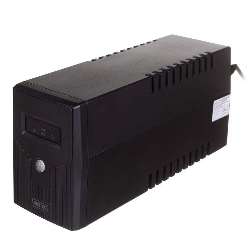 Zasilacz awaryjny UPS Digitus Line-Interactive LED 600VA/360W 1x12V/7Ah AVR 2xSCHUKO USB RJ11