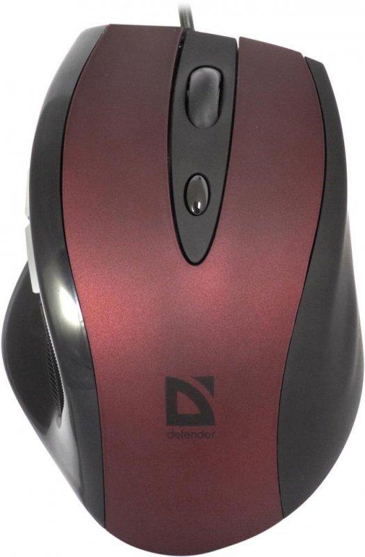 Mysz przewodowa Defender OPERA MB-880 optyczna 2000dpi burgundowa