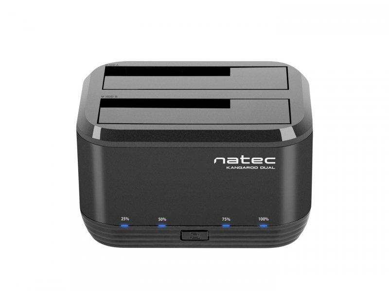 """Stacja dokująca NATEC Kangaroo NSD-0955 (2.5"""", 3.5""""; USB 3.0; czarny)"""