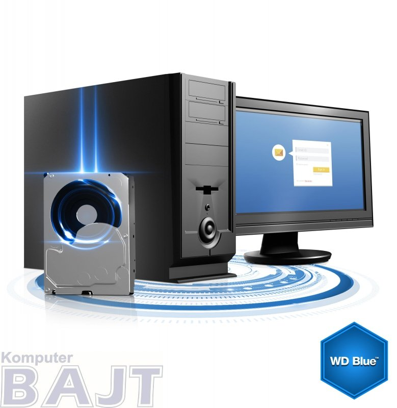 """Dysk WD Blue WD20EZRZ (2 TB ; 3.5""""; SATA III; 64 MB; 5400 obr/min)"""