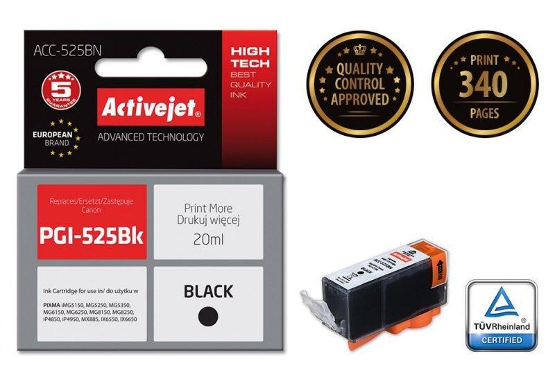 Tusz Activejet ACC-525BN (zamiennik Canon PGI-525PGBK; Supreme; 20 ml; czarny)