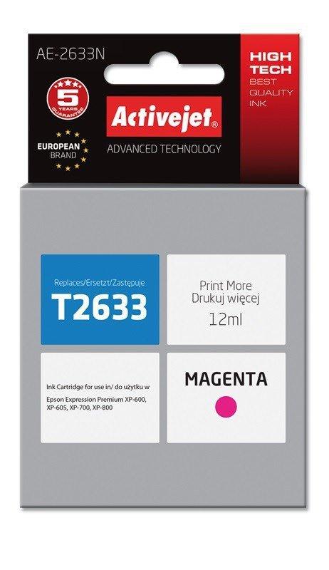 Tusz Activejet AE-2633N (zamiennik Epson 26 T2633; Supreme; 12 ml; czerwony)