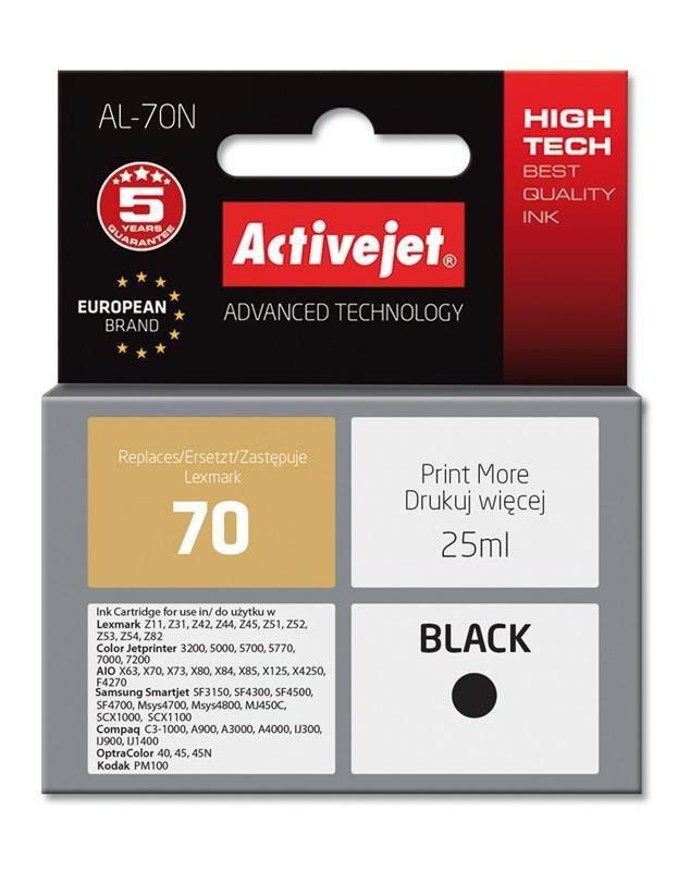 Tusz Activejet AL-70N (zamiennik Lexmark 70 12A1970; Supreme; 25 ml; czarny)