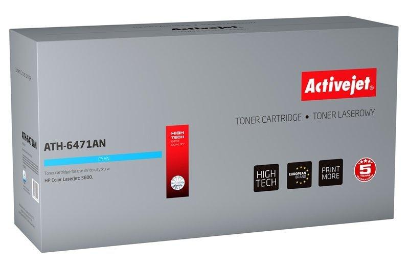 Toner Activejet ATH-6471AN (zamiennik HP 502A Q6471A, Canon CRG-717C; Premium; 4000 stron; niebieski)