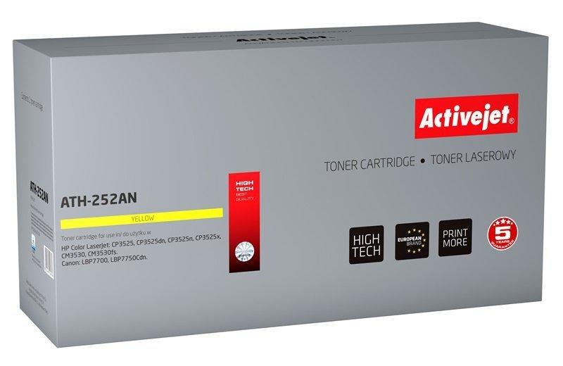 Toner Activejet ATH-252AN (zamiennik HP 504A CE252A, Canon CRG-723Y; Premium; 7000 stron; żółty)
