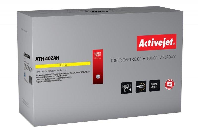 Toner Activejet ATH-402AN (zamiennik HP 507A CE402A; Premium; 6000 stron; żółty)