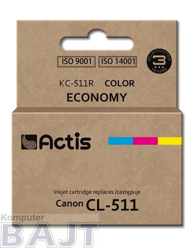 Tusz ACTIS KC-511R (zamiennik Canon CL-511; Standard; 12 ml; kolor)