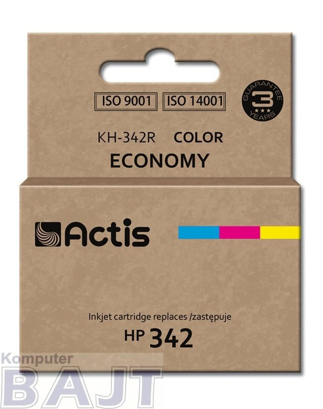 Tusz ACTIS KH-342R (zamiennik HP 342 C9361EE; Standard; 12 ml; kolor)