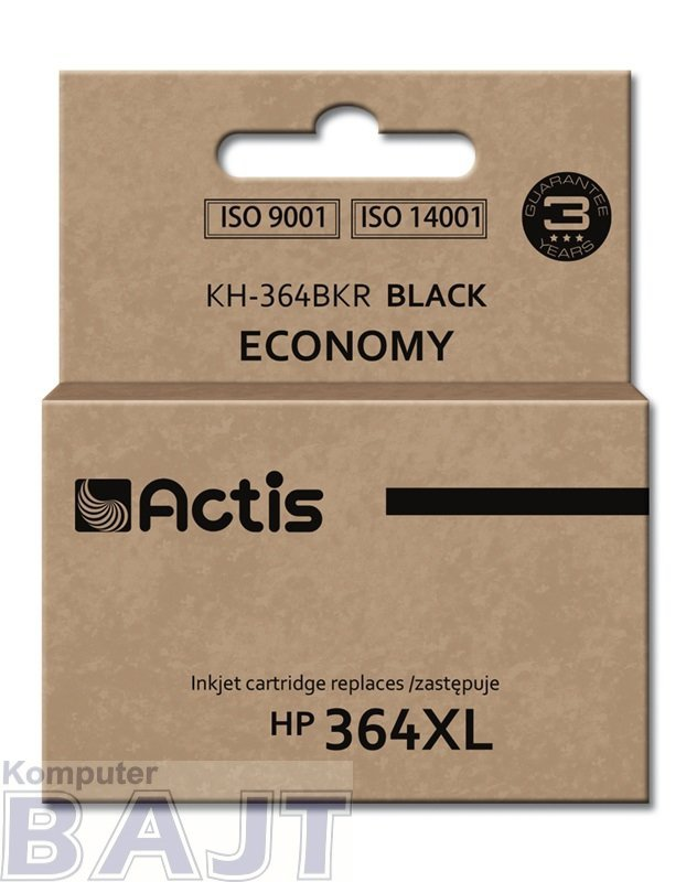 Tusz ACTIS KH-364BKR (zamiennik HP 364XL CN684EE; Standard; 20 ml; czarny)