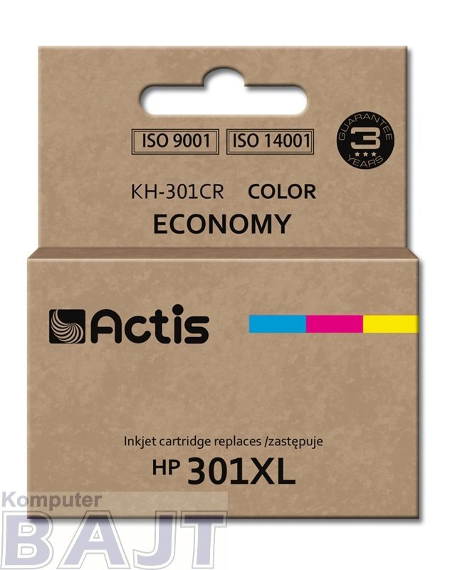 Tusz ACTIS KH-301CR (zamiennik HP 301XL CH564EE; Standard; 21 ml; kolor)