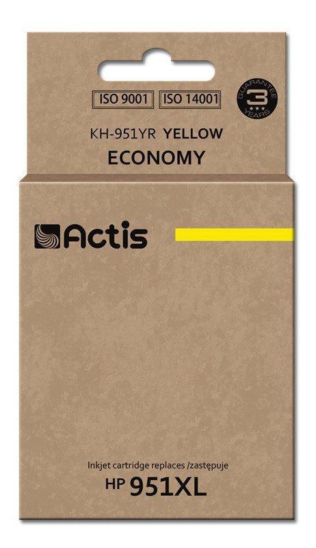 Tusz ACTIS KH-951YR (zamiennik HP 951XL CN048AE; Standard; 25 ml; żółty)