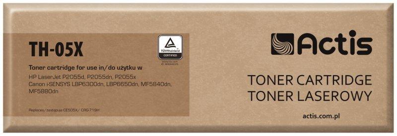 Toner ACTIS TH-05X (zamiennik HP 05X CE505X, Canon CRG-719H; Standard; 6500 stron; czarny)