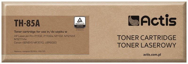Toner ACTIS TH-85A (zamiennik HP 85A CE285A, Canon CRG-725; Standard; 1600 stron; czarny)
