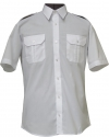 koszula mundurowa z krótkim rękawem biała przód
