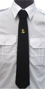krawat koloru czarnego z kotwicą