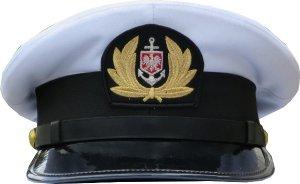 """czapka oficera """"Wilk Morski"""" nie wyprężona Marynarka Handlowa"""