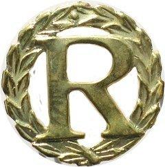 R oznaka identyfikacyjna żołnierza rezerwy i w stanie spoczynku MW