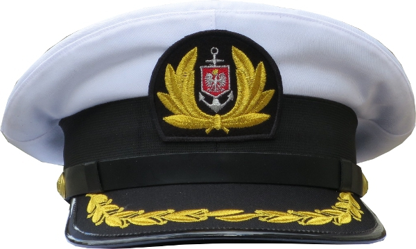 czapka kapitana nie wyprężona floty handlowej