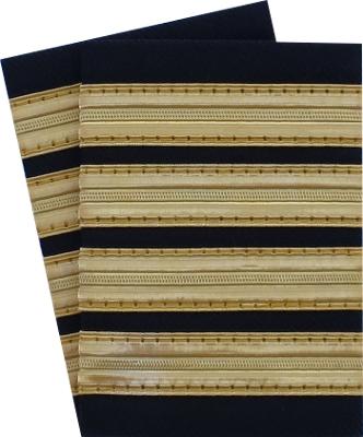 Epaulettes 4 gold stripes
