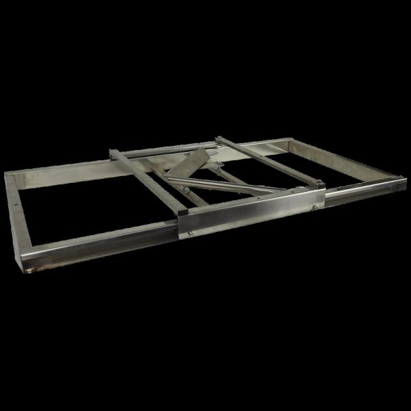 Stół nakładkowy. Nóż V na ramie stalowej Na ramki Dadant/Langstroth/Apipol