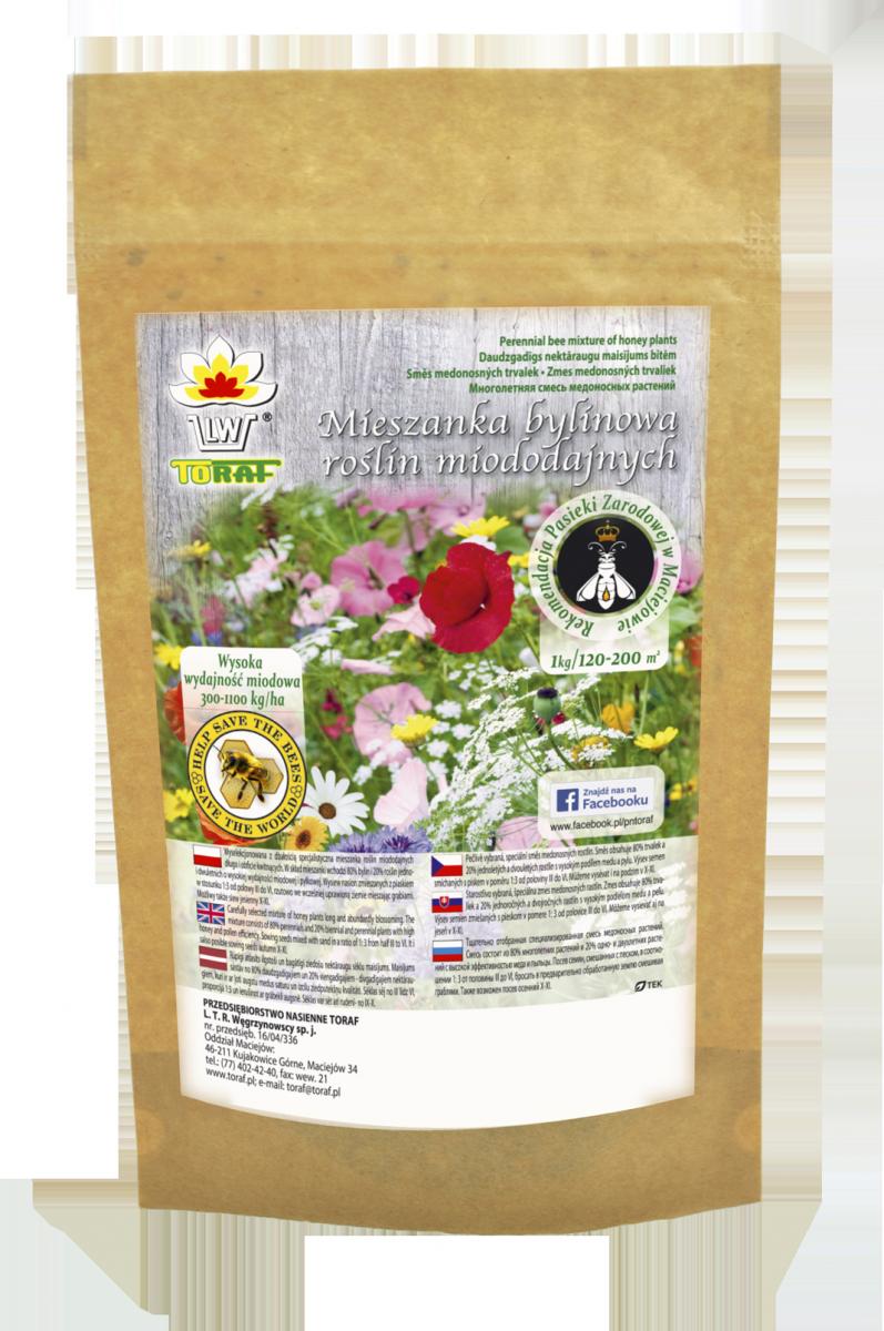 Mieszanka 19 roślin miododajnych na tereny podmokłe (500g)