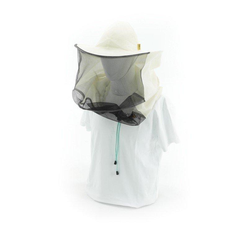 Kapelusz pszczelarski lniany płótno z tyłu