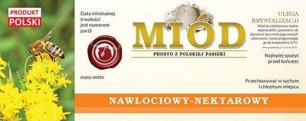 Paczka etykiet na miód nawłociowy 154x60 (100szt)