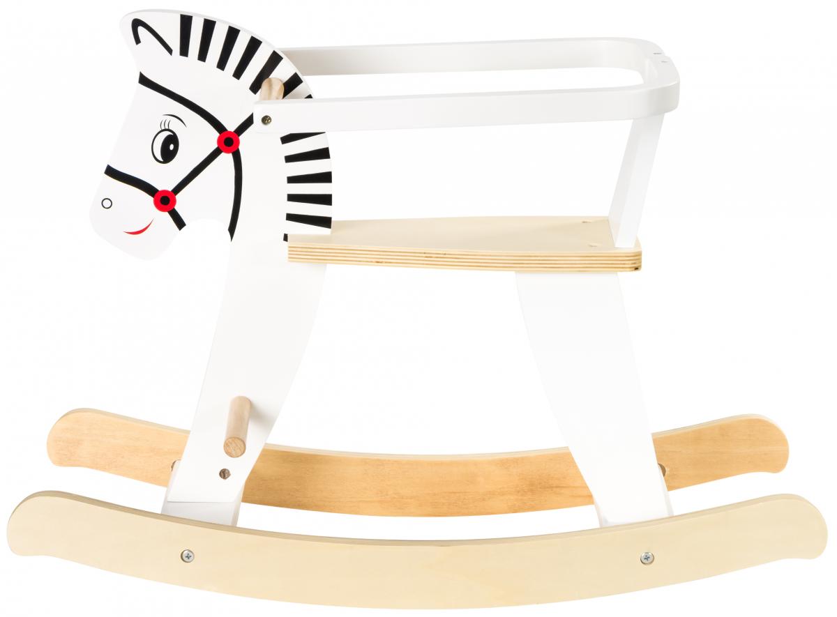 Drewniany Konik Na Biegunach Z Barierkami K11 Drewniane Zabawki