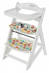 Krzesełko do karmienia Woody Białe