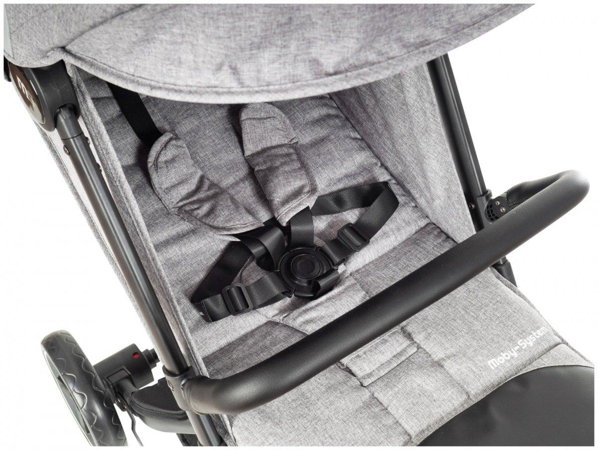 Wózek spacerowy dziecięcy Moby-System LEON - szary