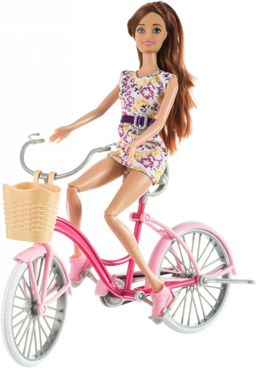 Lalka Anlily - Mój rower - brunetka
