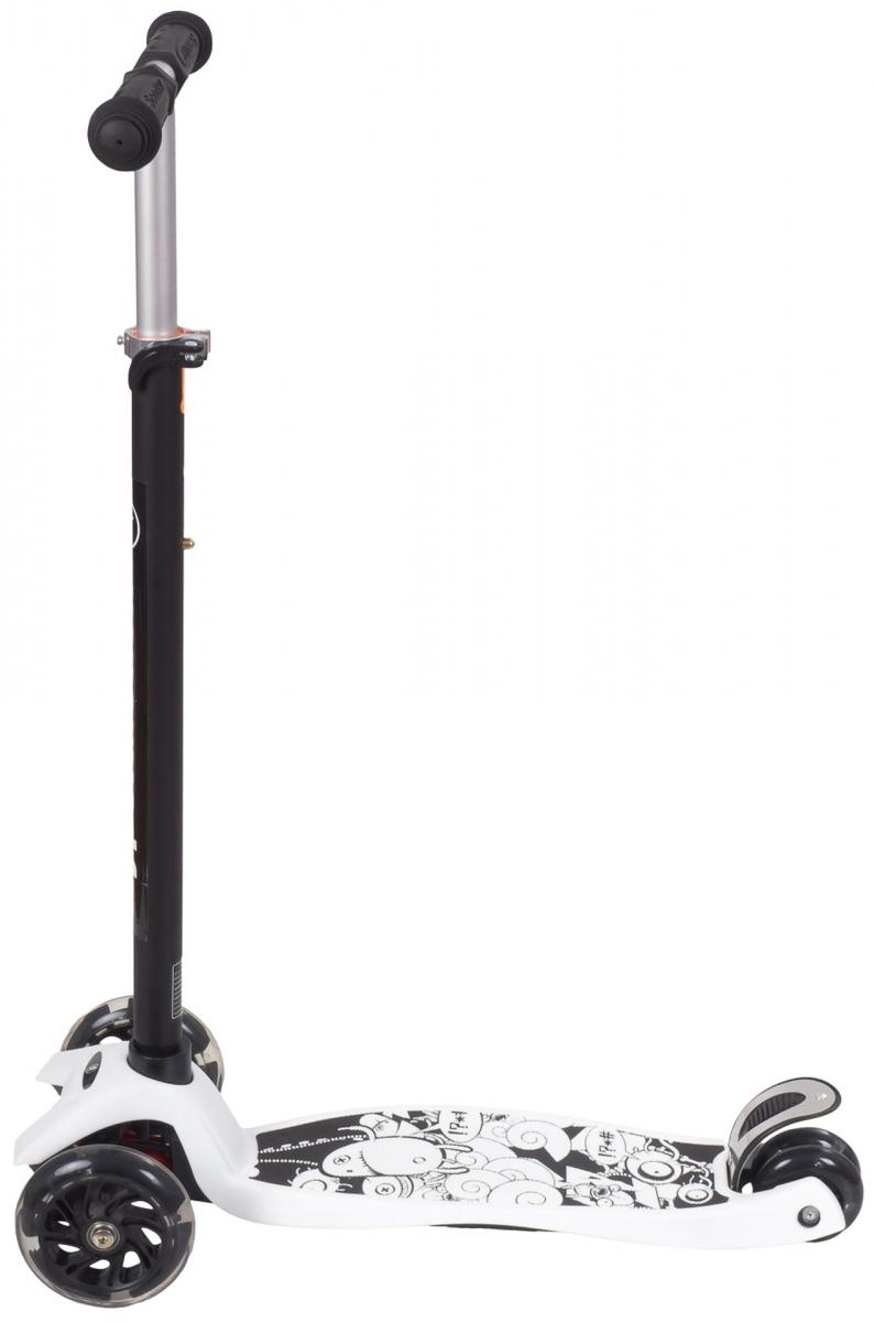 Hulajnoga trójkołowa balansowa ALAMO - Biała + koła LED