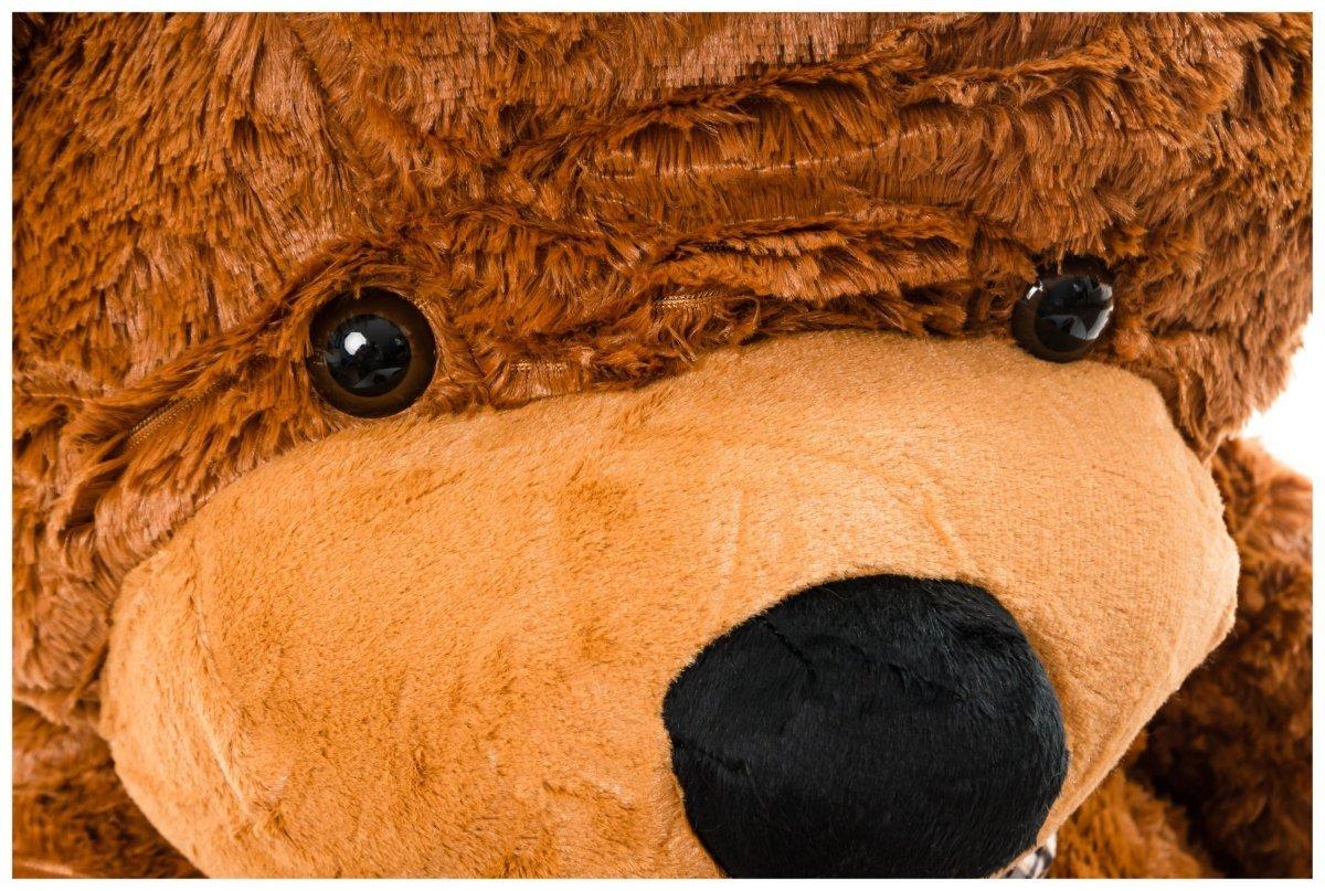 Miś pluszowy GIGANT 160 cm - ciemny brąz
