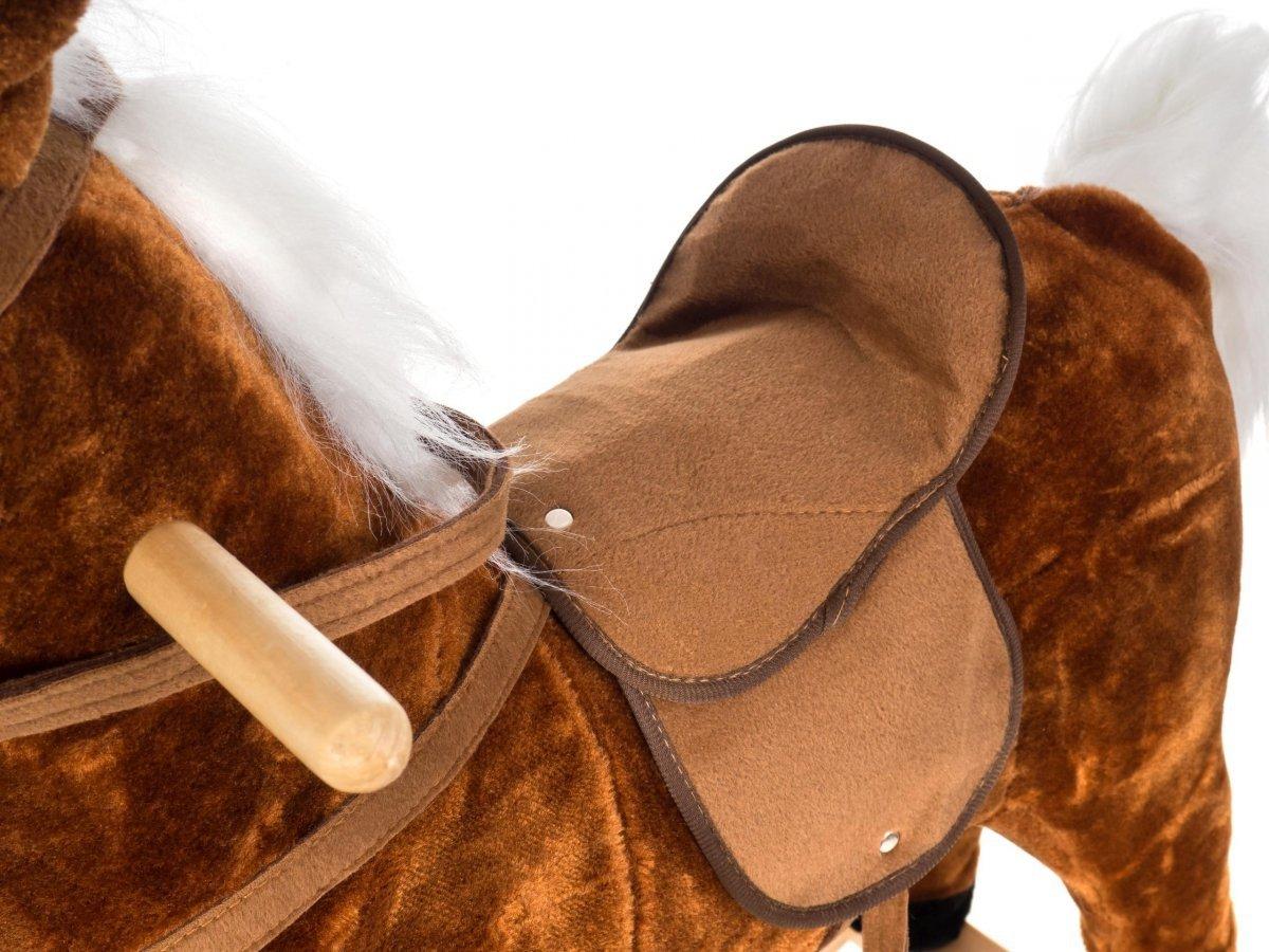 Koń na biegunach - bardzo duży XXL 82 cm - brązowy