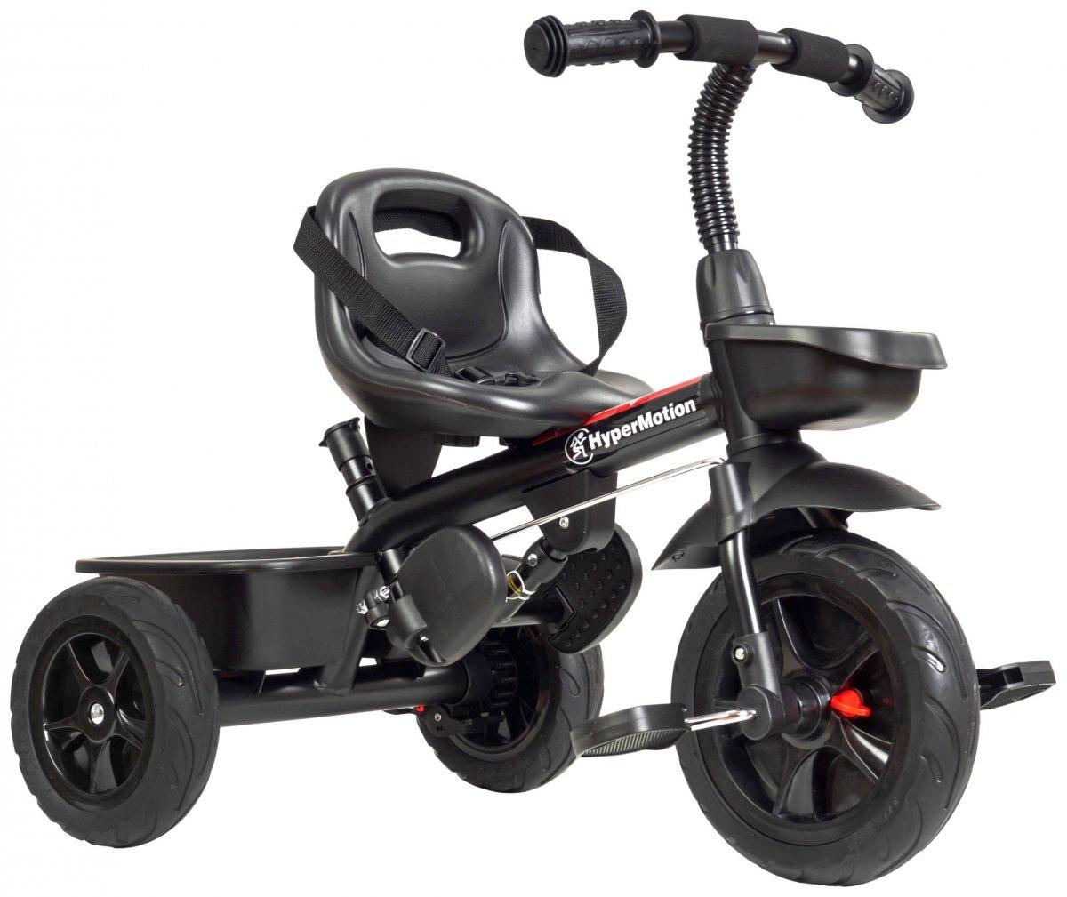 Rowerek trójkołowy TOBI VECTOR - kolor czarny - wiecznie pompowane koła + pchacz