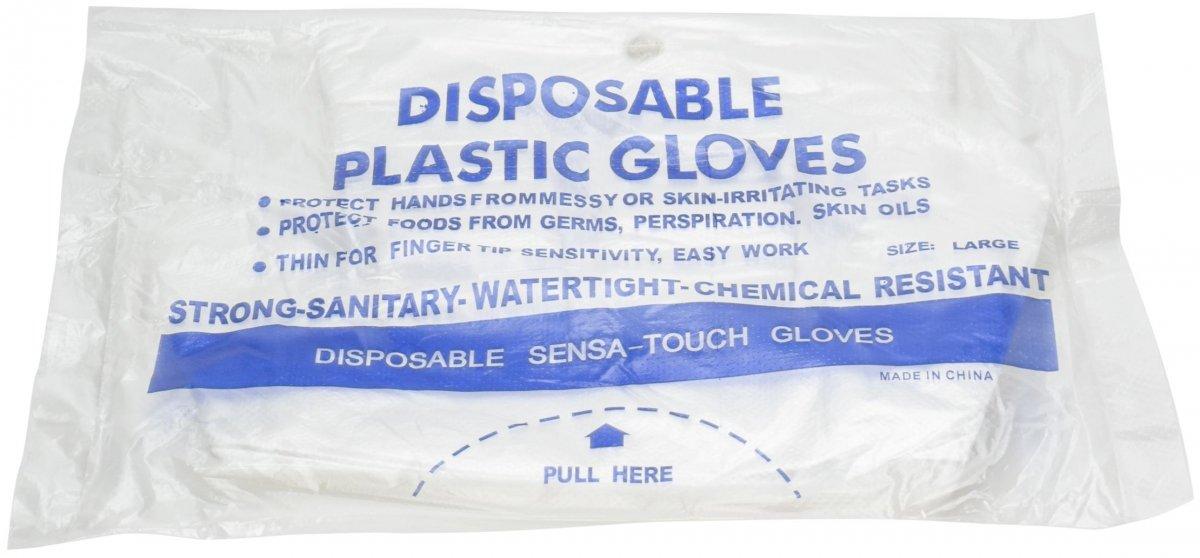 Zrywki - Foliowe rękawiczki jednorazowe HDPE - zrywane - 100 sztuk